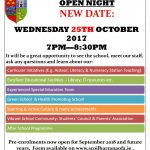 New date open night 2017