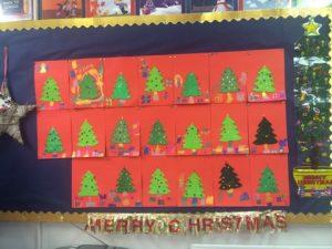 2nd Class Christmas Art
