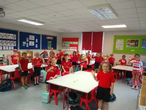 Red Day in Scoil Barra Naofa